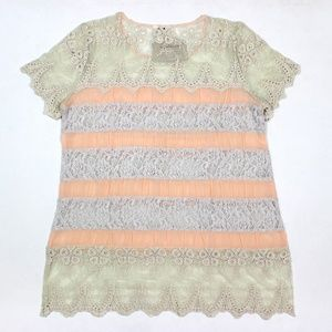 Sundance Lace In Bloom Tunic Blouse